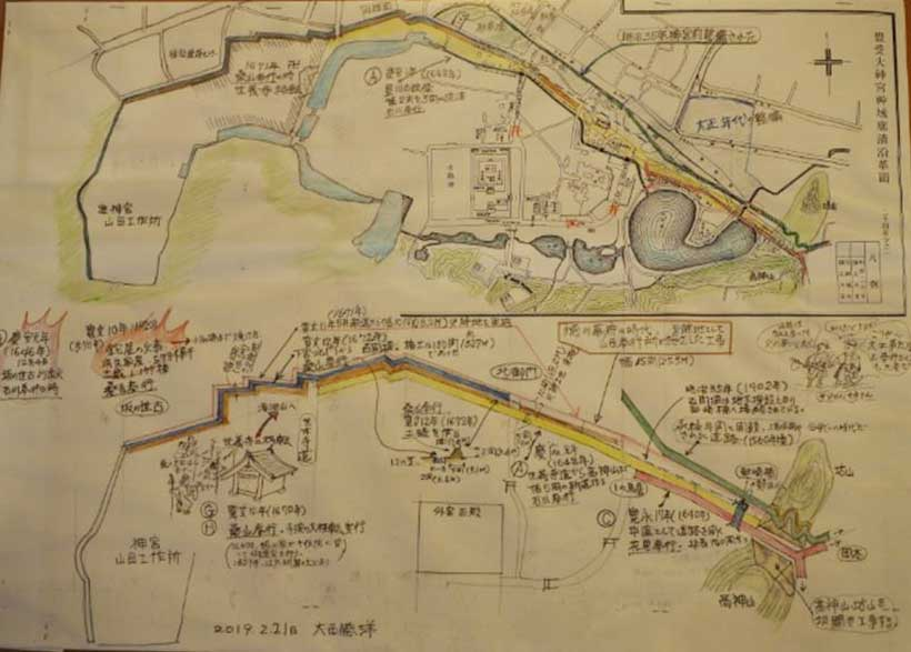山田奉行所が外宮周辺に施策した防災設備