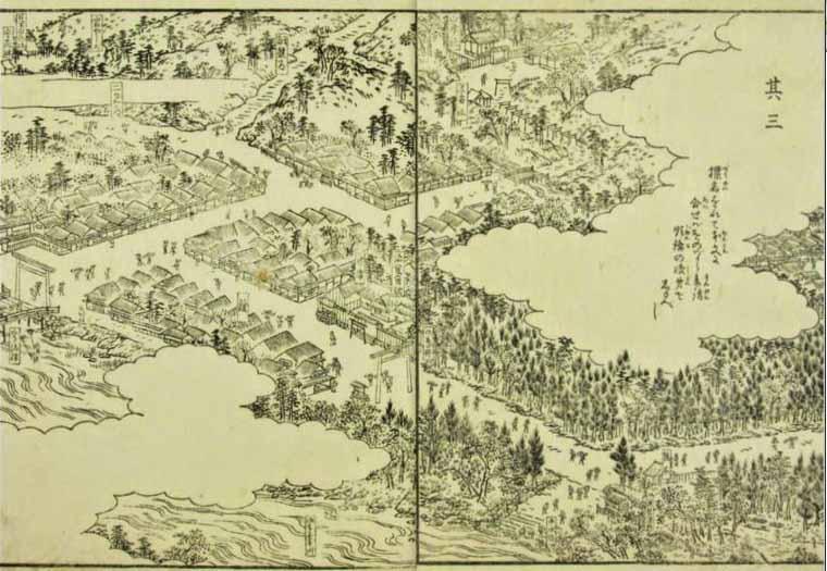 江戸時代の伊勢神宮(内宮)