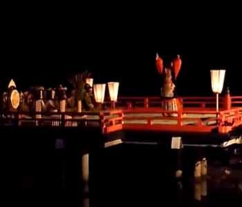 観月会の舞楽