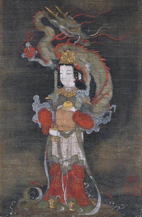 善女龍王図-長谷川信春(等伯)
