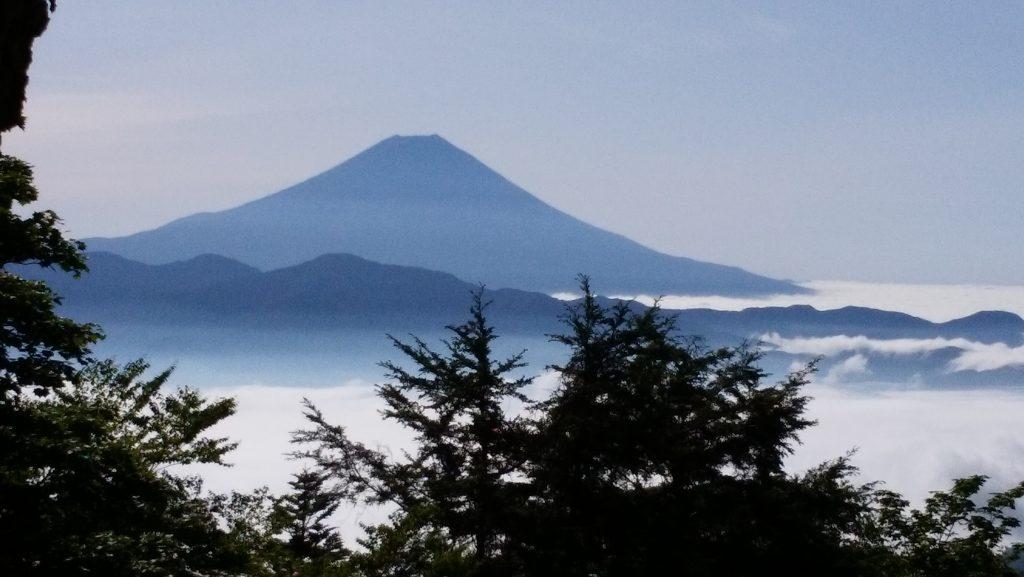 七面山(奥之院)から見た富士山