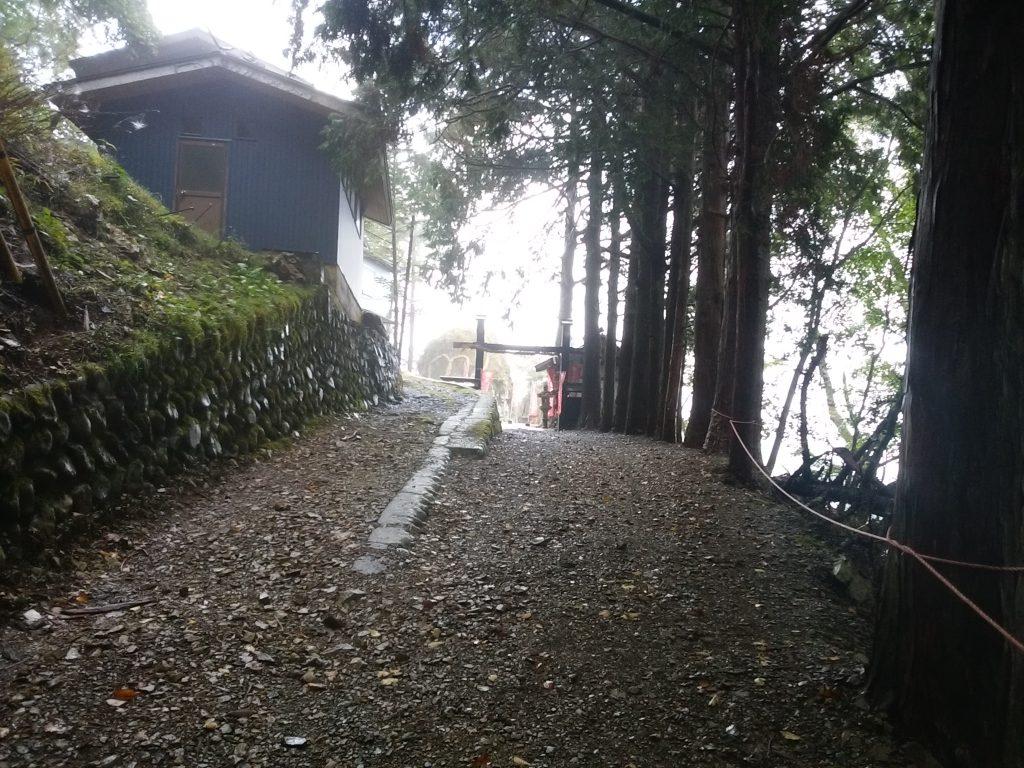 七面山・奥の院の入口