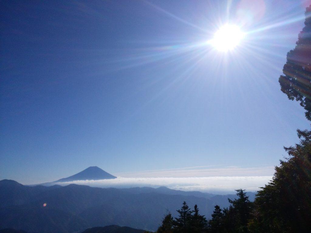 七面山から見た富士山