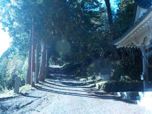 七面山・展望台への道