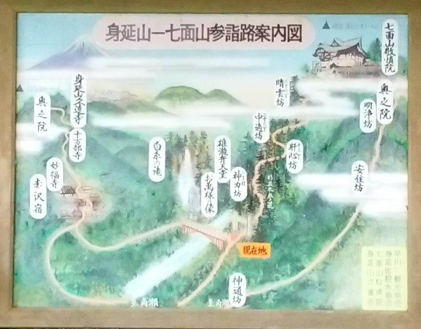 七面山参詣路案内図