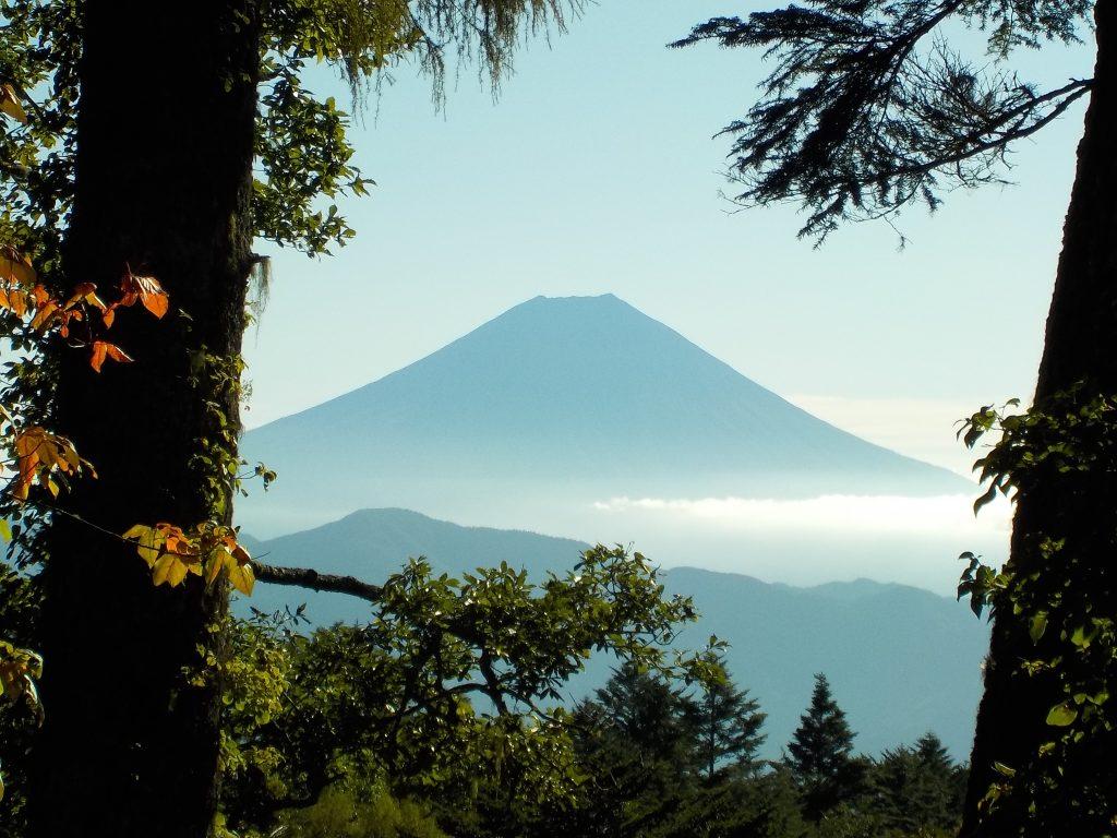 奥之院への道で見えた富士山
